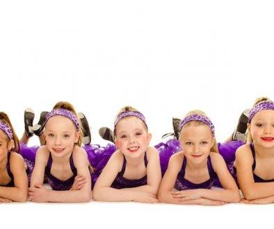Dance Studio Junior Tap Dancers posing in costume