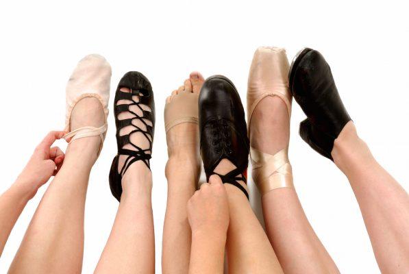 Footworks Dance Studio - Styles of Dance Shoes in Feet