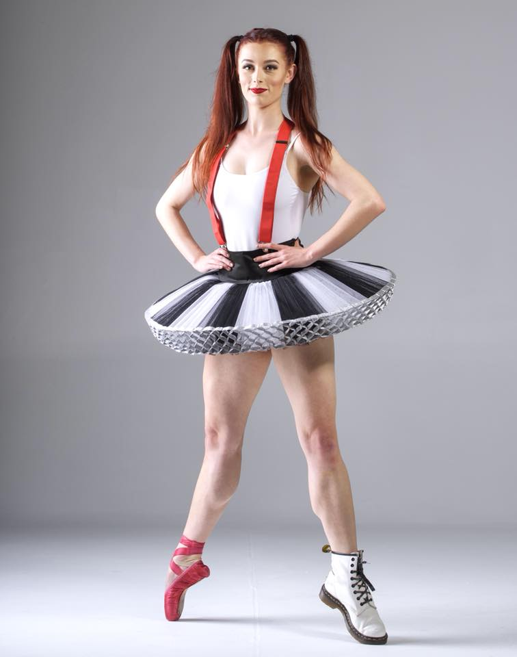 Brooke Tytherleigh, a teacher from Footworks Dance Studio in a performance ballet costume